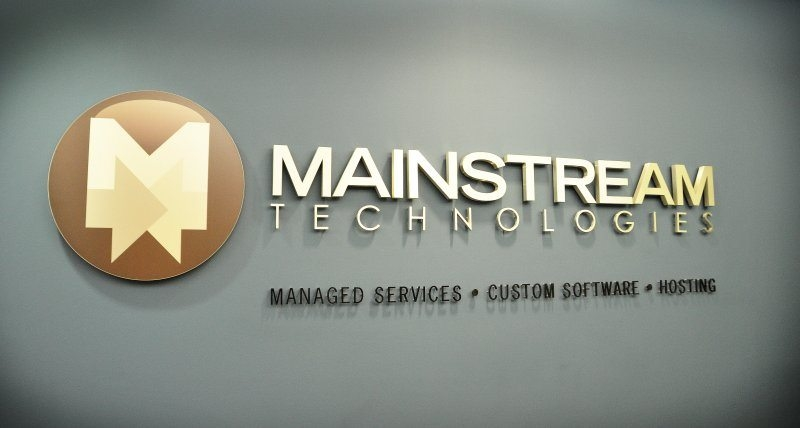 Mainstream Technologies Interior Sign