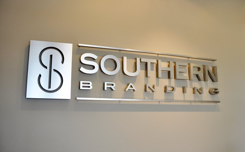 Southern Branding Flat Cut Metal Interior Sign