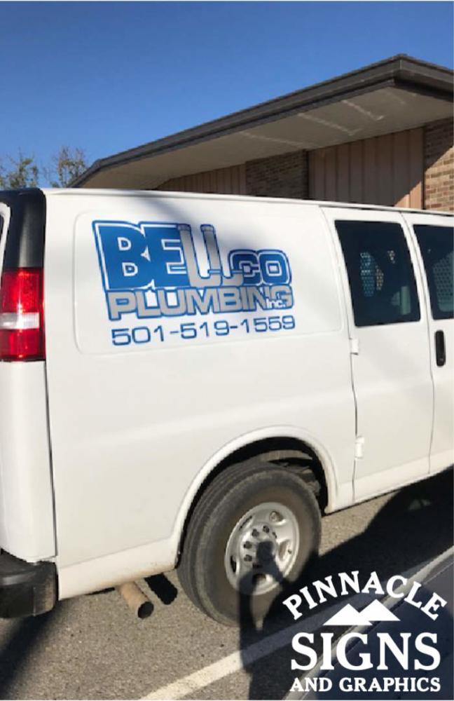 Bellco Plumbing Van Vehicle Graphic