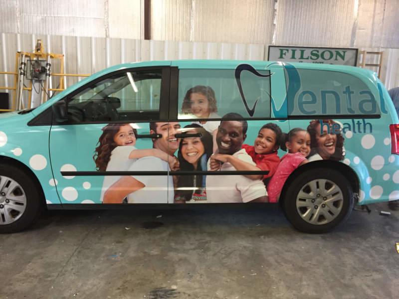 Dental Health Full Vehicle Wrap on van