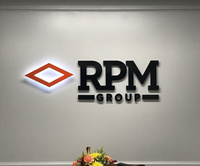 RPM Group Halo Lit Aluminum Interior Sign