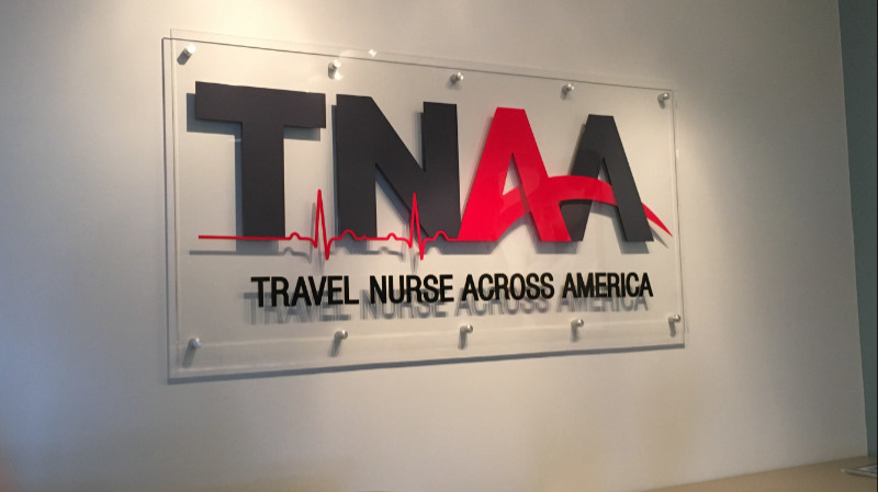 TNAA Clear Acrylic Standoff Interior Sign