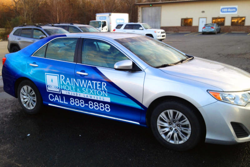 Rainwater Holt and Sexton Partial Vinyl Vehicle Wrap