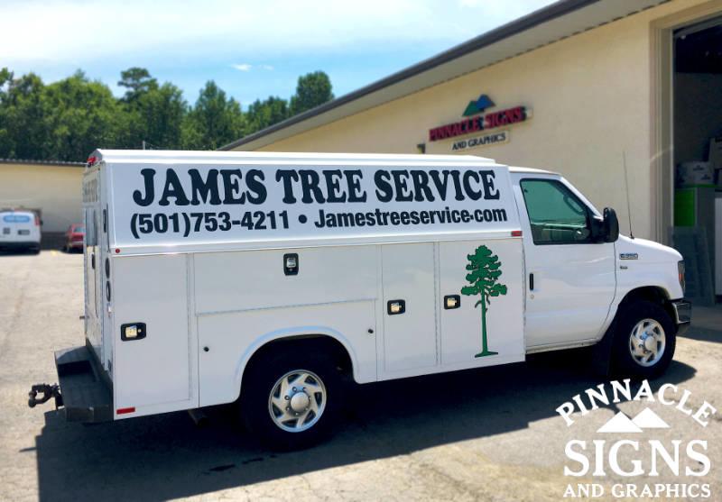 James Tree Service Vehicle Graphic