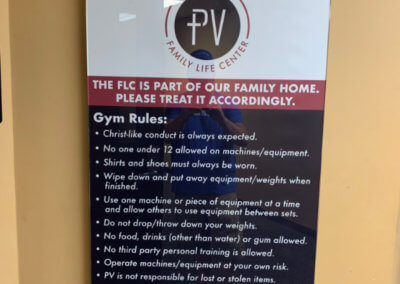 PVCC Interior Acrylic Standoff Sign