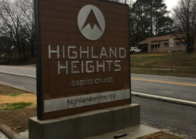 Highland Heights Monument Sign