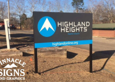 Highland Heights Post and Panel Sign