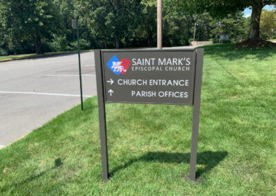 St. Mark's Refurbished Post and Panel Sign