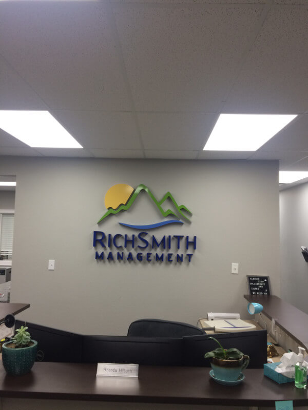 Rich Smith Management Lobby Sign