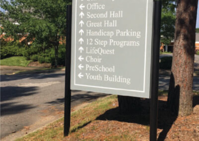 Second Presbyterian Directional Sign